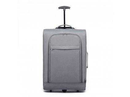 Cestovní příruční kufr na kolečkách - šedý