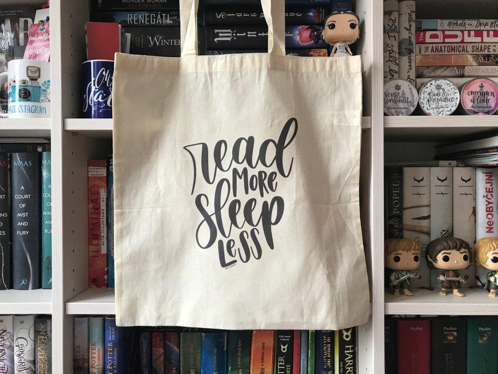 Plátěná taška - Read more, sleep less