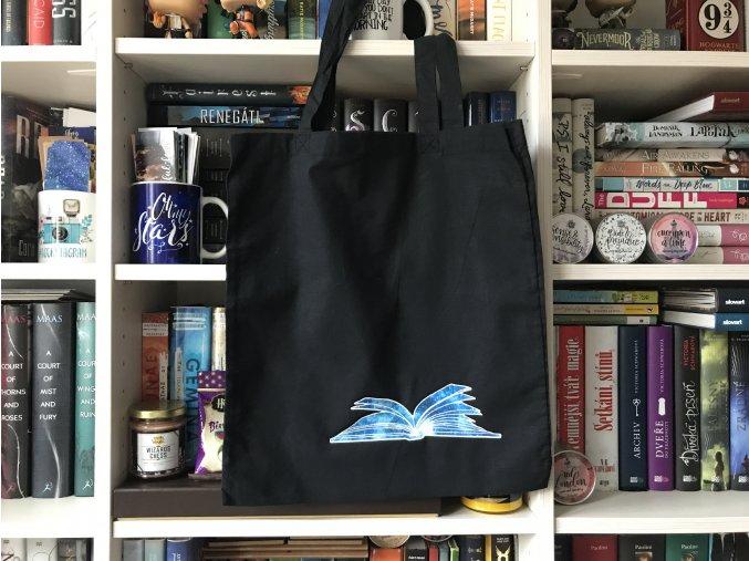 Plátěná taška - otevřená kniha