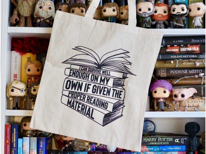 Plátěná taška - Proper reading material