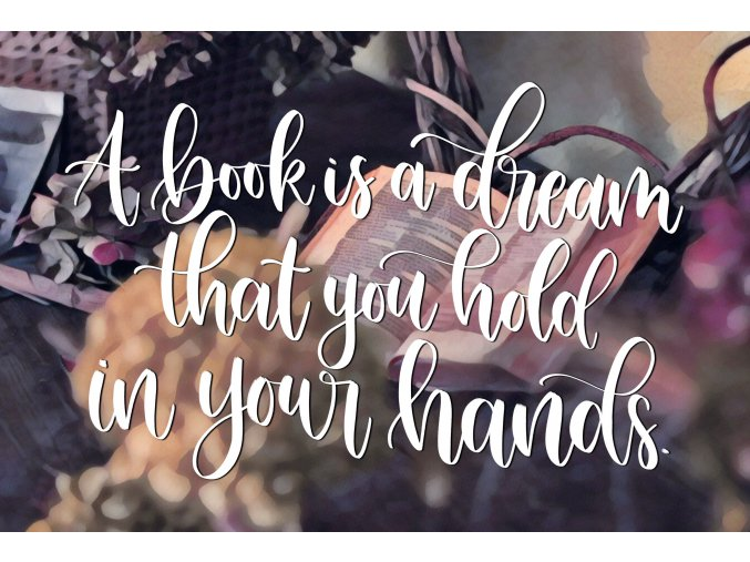 Art print: A book is a dream