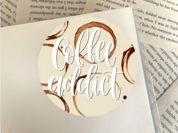 Nálepka: coffee addict