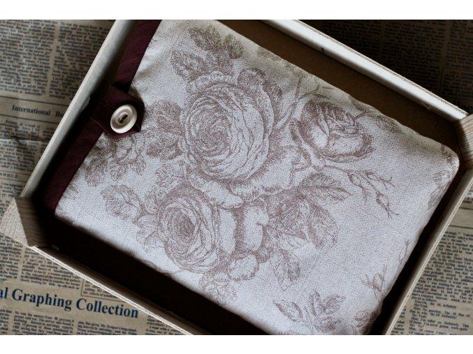 Decentní hnědé růže  Obal pro středně velké knihy
