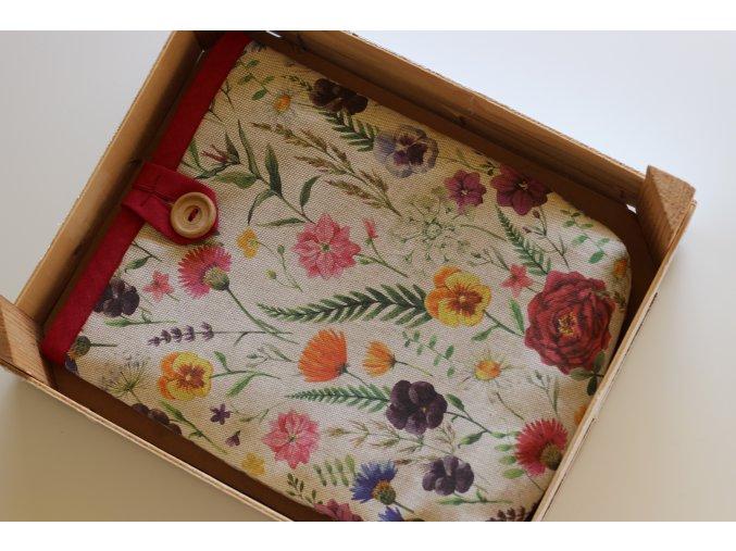 Obal na knihu: Divoká květinová louka  OBAL VHODNÝ I NA VĚTŠÍ KNIHY