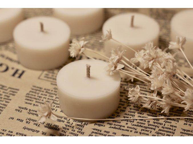 Bezobalová sójová svíčka  Čajová svíčka vhodná i do aromalamp.