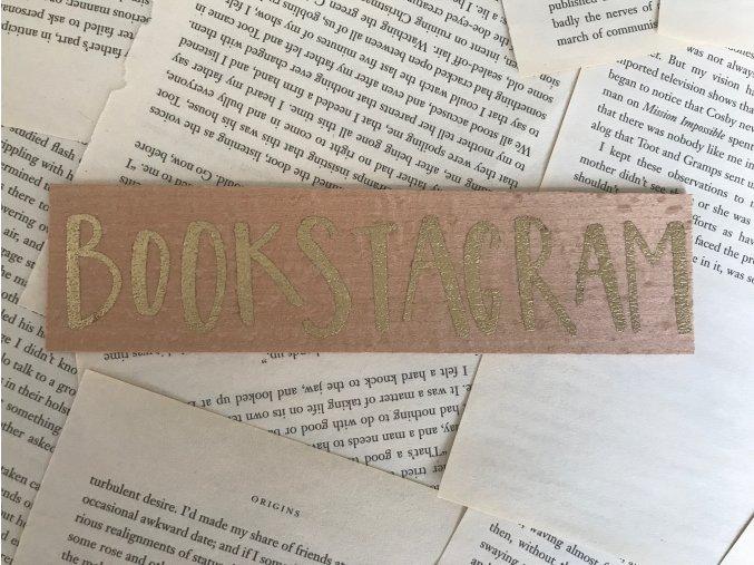 Dřevěná záložka: BOOKSTAGRAM