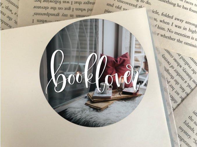Nálepka: booklover
