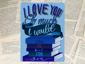 Art print: I love you so much