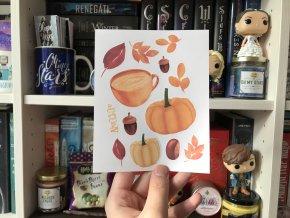 Motivy podzimu: set nálepek