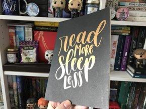 Sešit: Read more, sleep less