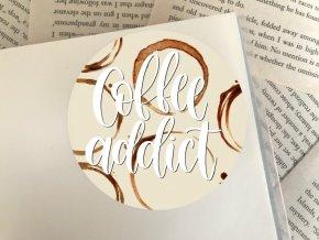 Nálepka: coffee addict