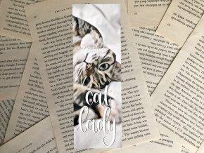 Záložka: cat lady