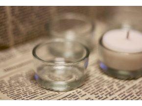 Skleněný kalíšek  Malý svícen pro bezobalovou svíčku