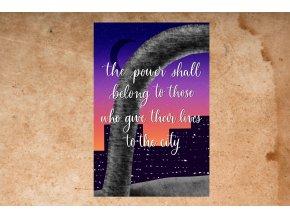 Art print: The power shall belong