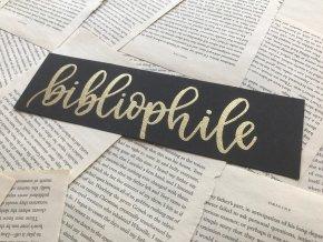 Embosovaná záložka: bibliophile