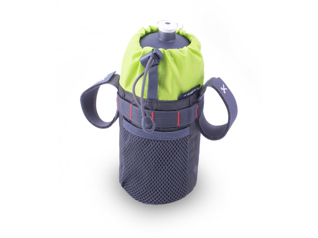 Bike bottle bag grey equipped