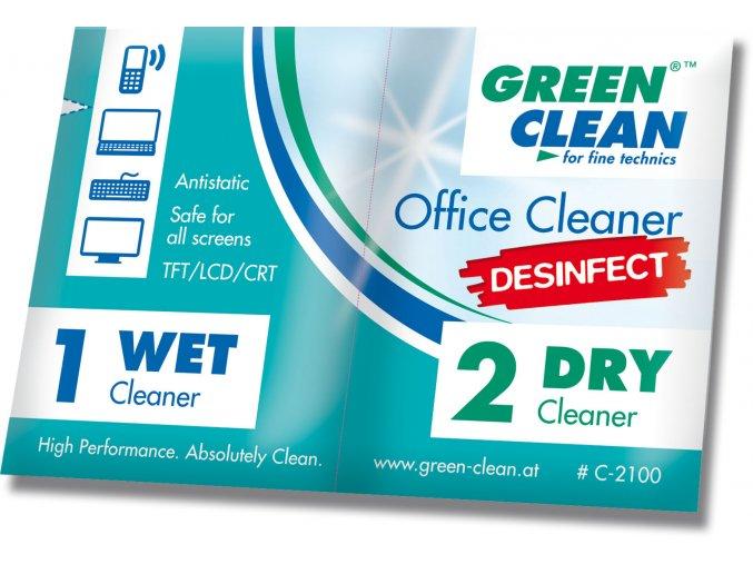 Office cleaner Desinfect - Wet and Dry - Dezinfekční utěrka na kancelářskou techniku