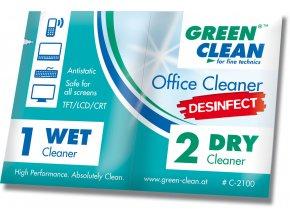 Office cleaner Desinfect - Wet and Dry - Dezinfekční utěrka na kancelářskou techniku /100 kusů/
