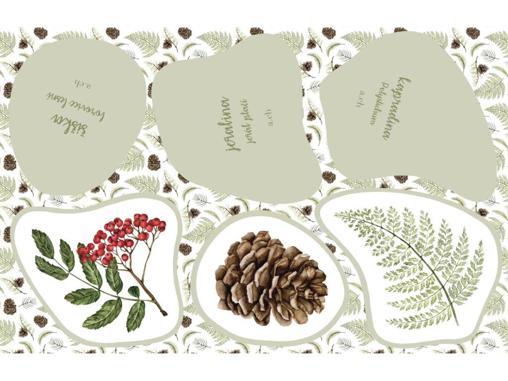 Ušij si svou les kapradiny produktová