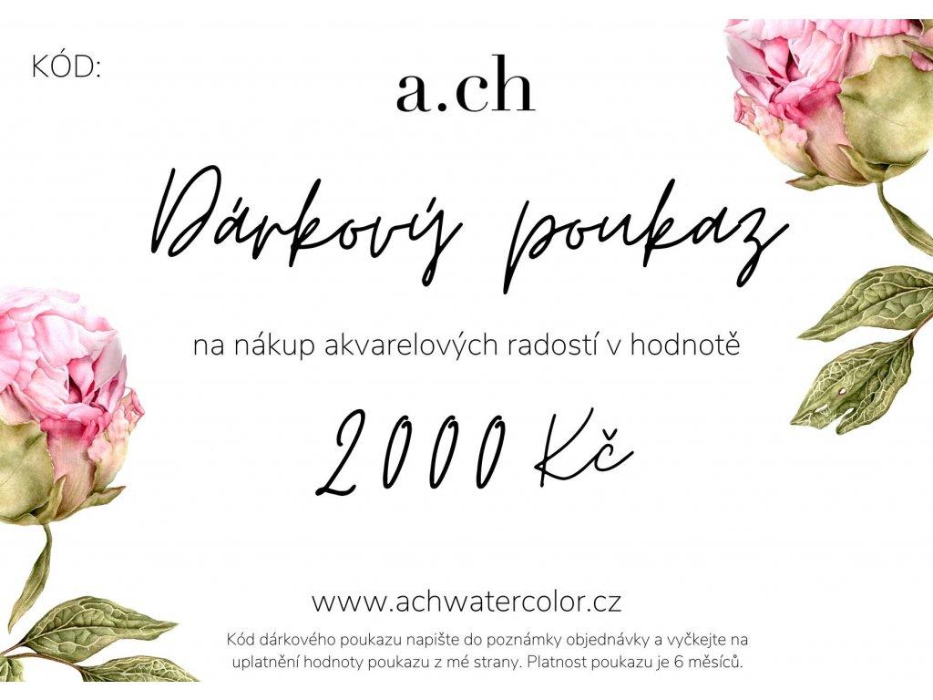 Poukaz 1500 Kč shoptet