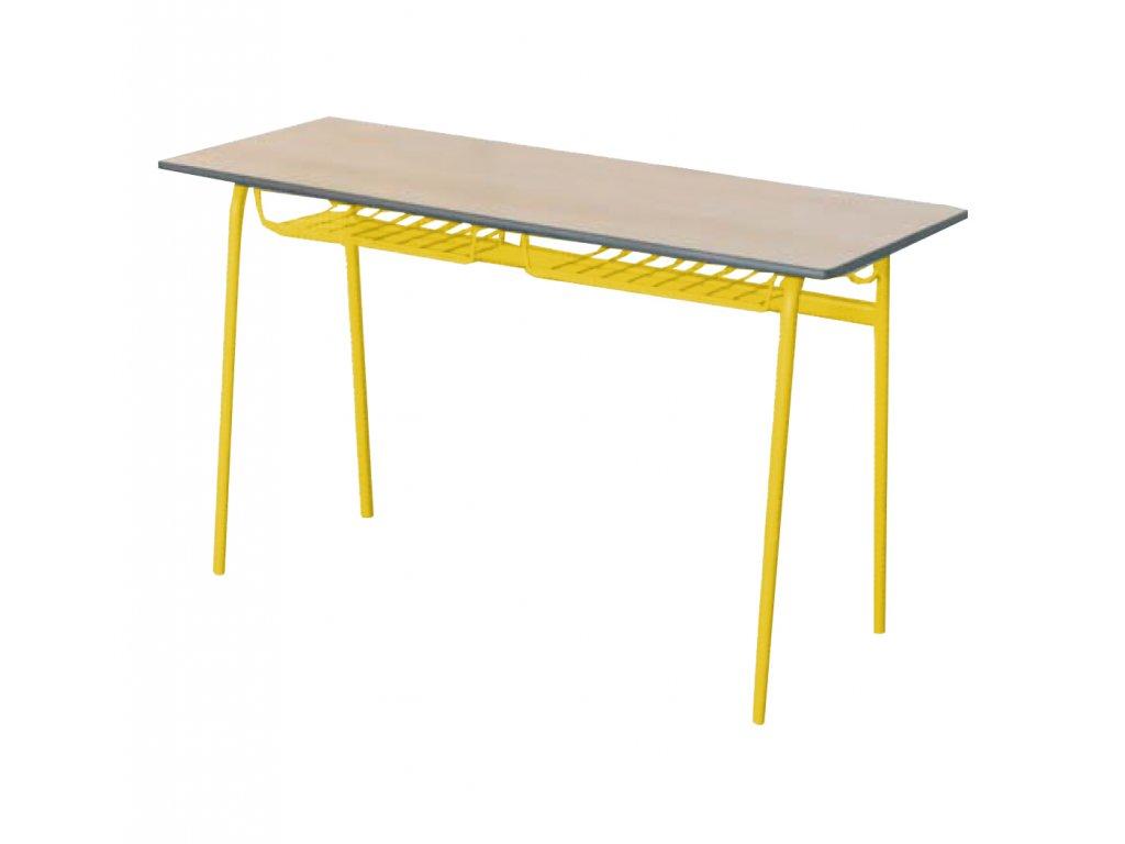 Školní lavice dvoumístná pevná