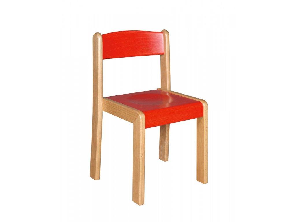 Školní židle dřevěná mořená  ALENKA 5