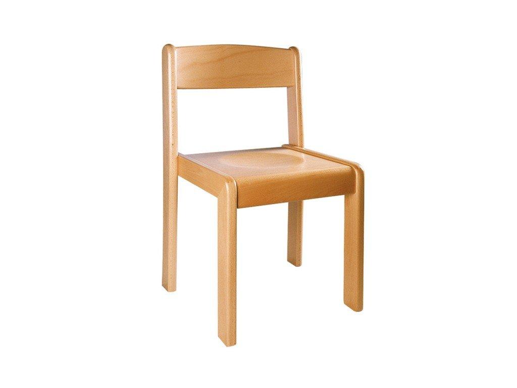 Školní židle dřevěná přírodní NIKOLKA 3