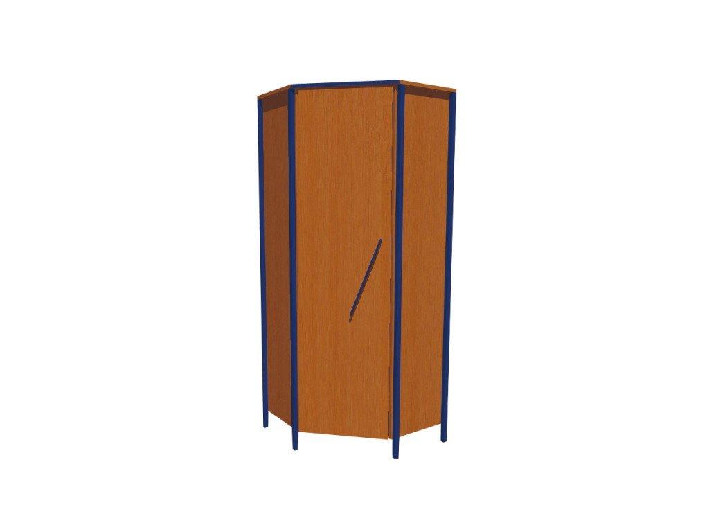 Školní skříň rohová jednodveřová L,/P  ALEŠ