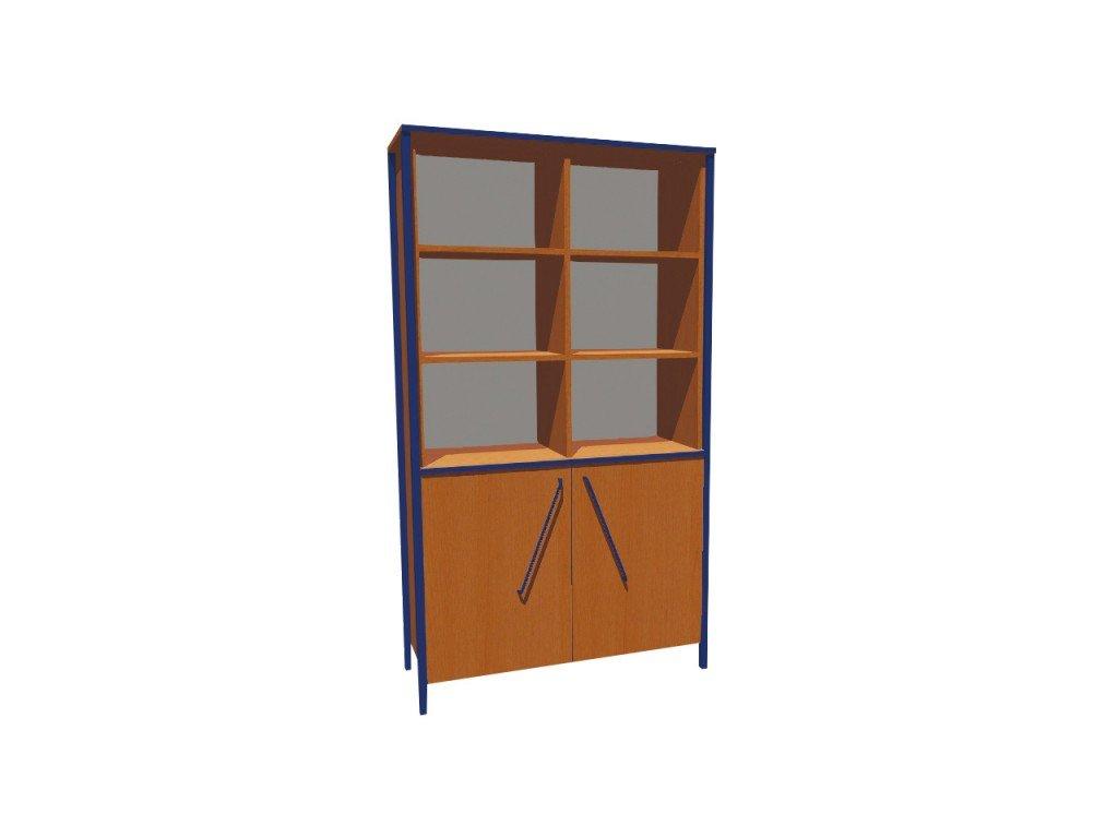 Školní skříň dvoudveřová kombinovaná ALEŠ