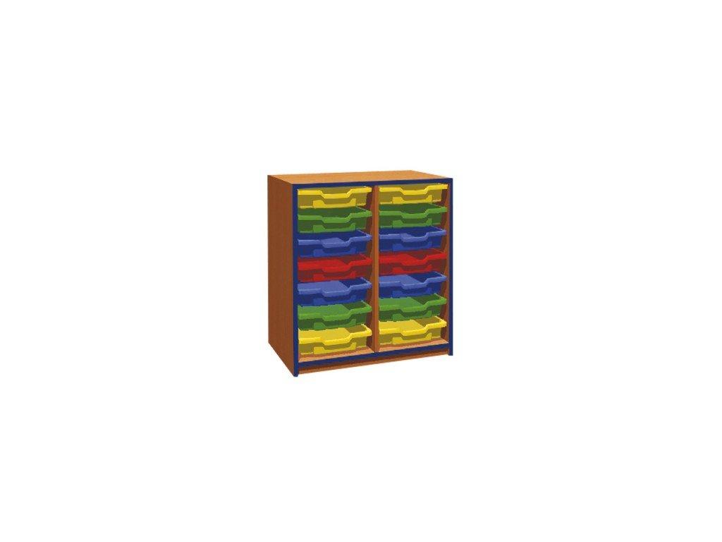 Školní skříň na plastové zásuvky KRYŠTOF