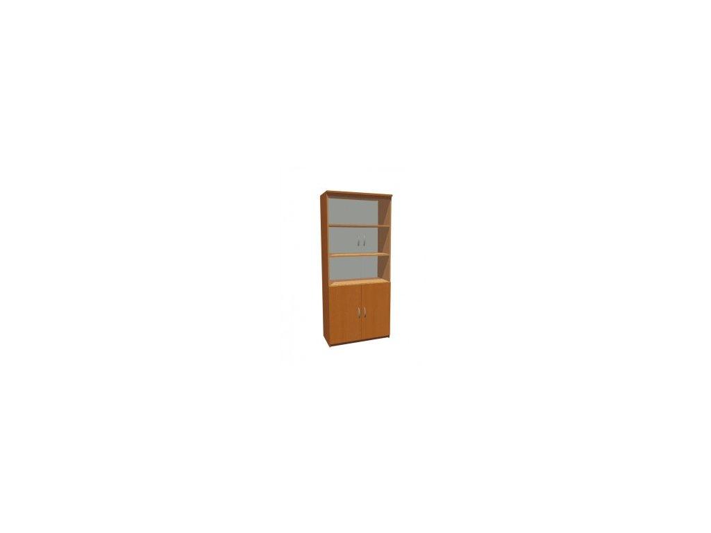 MEDIC 3 čtyřdvéřová zdravotnická skříň, 4 police, 4 dveře, prosklená