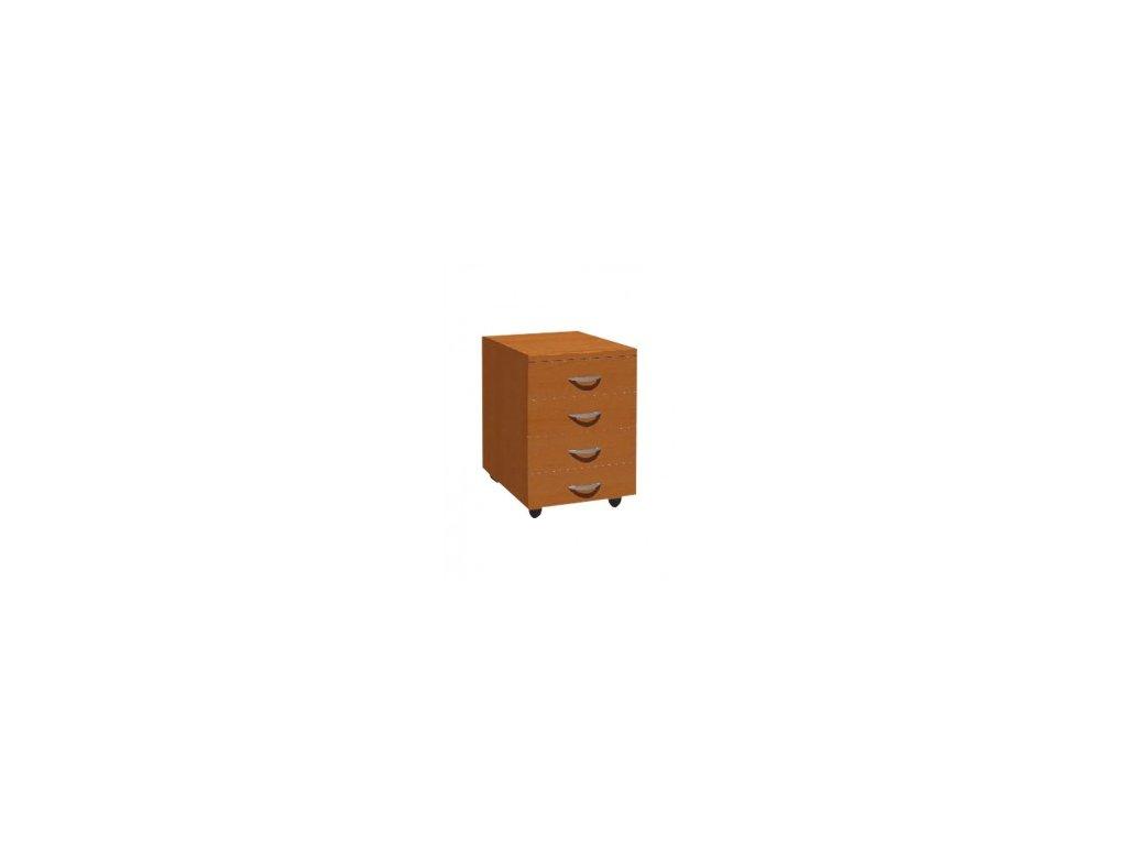 MEDIC 3 zásuvkový kontejner do ordinace na kolečkách 4 zásuvky