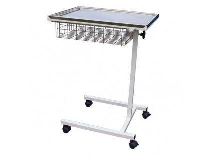 Zdravotnický stolek s nastavitelnou výškou a košem