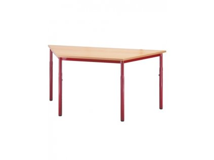Školní stůl lichoběžník, stavitelný