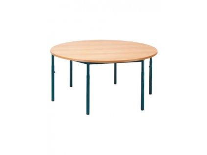 Školní stůl kulatý, stavitelný