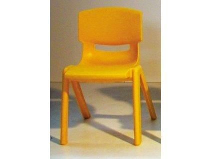 Plastová židle pro MŠ výška 34 cm