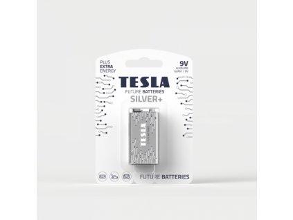 Alkalická baterie Tesla SILVER+ 9 V, blistr 1 ks