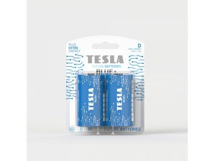 Zinková baterie Tesla BLUE+ R20/D, 1,5 V, blistr 2 ks