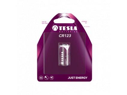 Lithiová baterie Tesla CR123, 3 V, blistr 1 ks