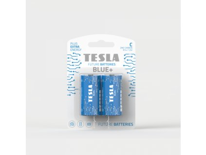 Zinková baterie Tesla BLUE+ R14/C, 1,5 V, blistr 2 ks