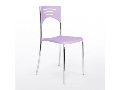 Plastová židle Sedia BREAK chrom