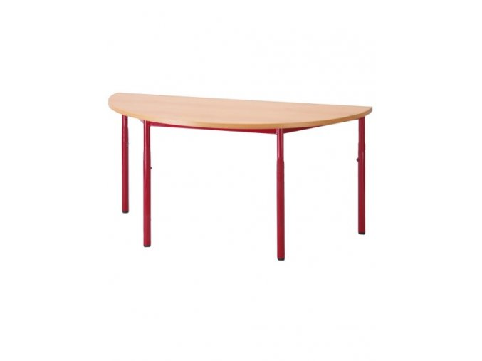 Školní stůl půlkruh, pevný