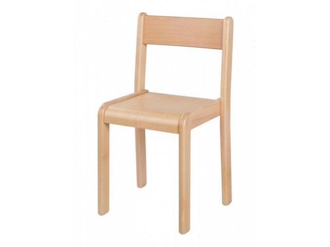 Dětská dřevěná židle ANETKA 4 stohovatelná, velikost 30 cm
