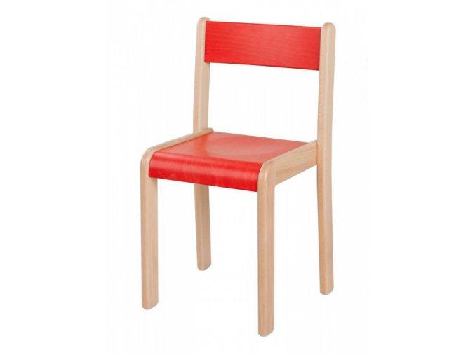Dětská dřevěná židle mořená HANIČKA 3, velikost 26 cm