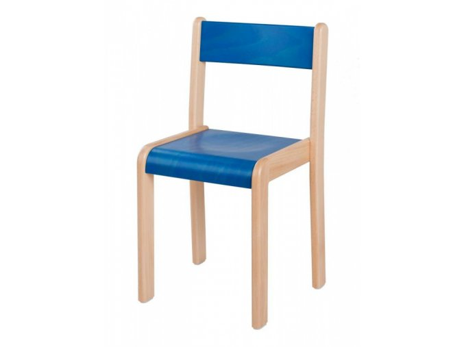 Dětská dřevěná židle mořená HANIČKA 4, velikost 30 cm