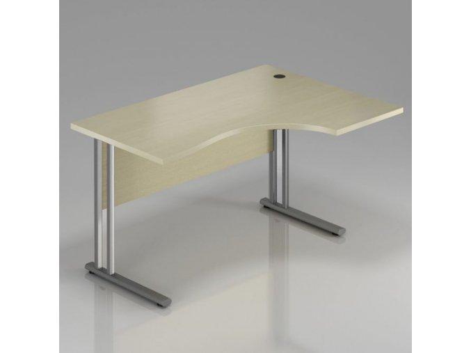 Rohový stůl GAMA na kovové podnoži 180x100 cm, pravý