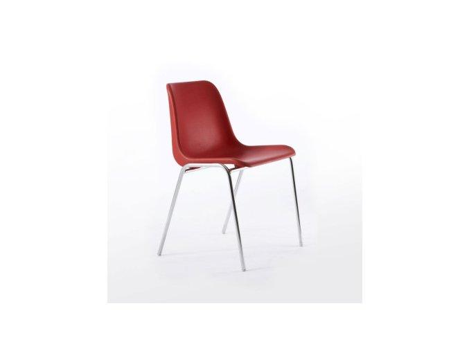 Plastová židle VICENZA chrom