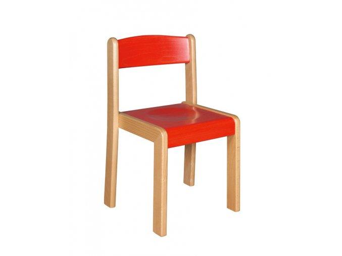 Školní židle dřevěná mořená  ALENKA 4