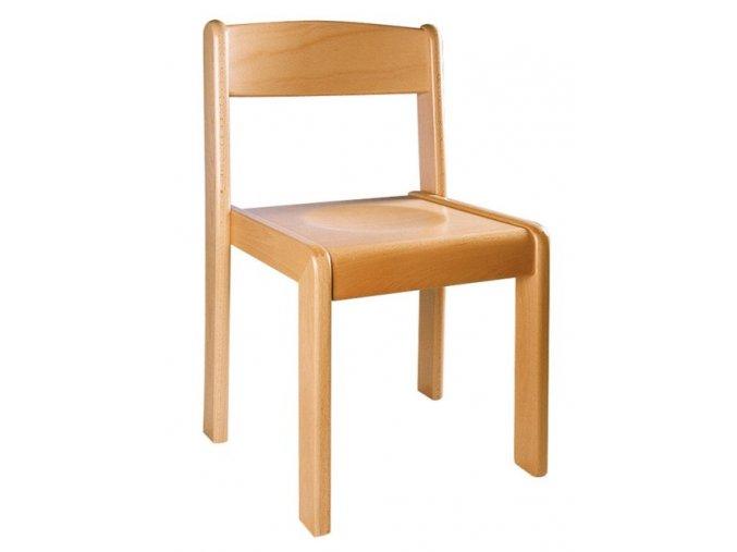 Školní židle dřevěná přírodní NIKOLKA 4