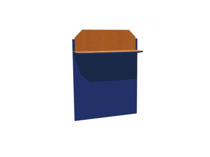 Školní nástěnka jednopolicová s magnet. tabulí ALEŠ